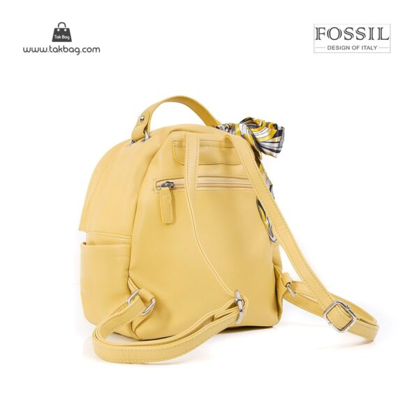 کیف برند فسیل رنگ زرد از بغل ( fossil tb-6123)