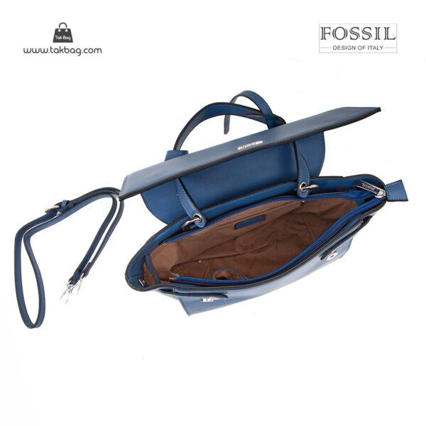 کیف دستی زنانه کد TB-6131 برند فسیل رنگ آبی از بالا ( fossil tb-6131 )