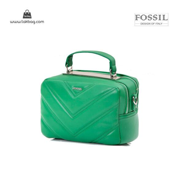 کیف رودوشی زنانه کد TB-6134 برند فسیل رنگ سبز از جلو ( fossil tb-6134 )