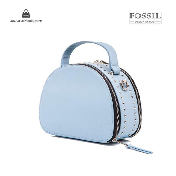 کیف رودوشی زنانه کد TB-6135 برند فسیل رنگ آبی از پشت ( fossil tb-6135 )