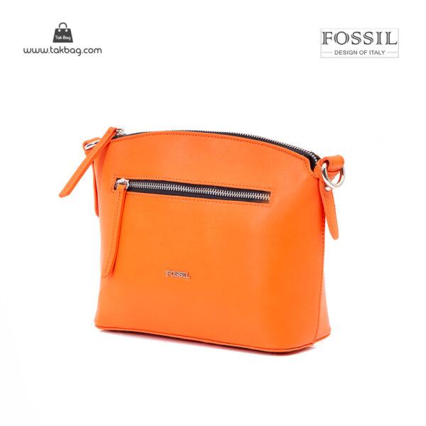 کیف رودوشی زنانه کد TB-6136 برند فسیل رنگ نارنجی از جلو ( fossil tb-6136 )