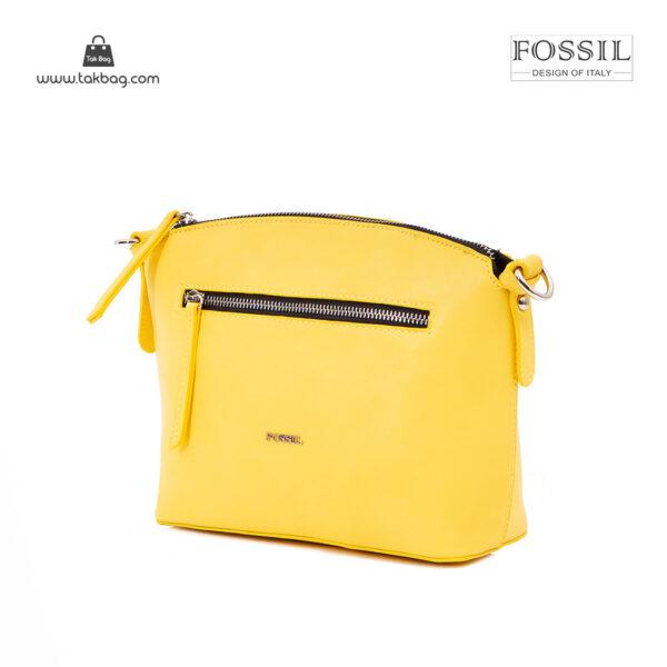 کیف رودوشی زنانه کد TB-6136 برند فسیل رنگ زرد از جلو ( fossil tb-6136 )