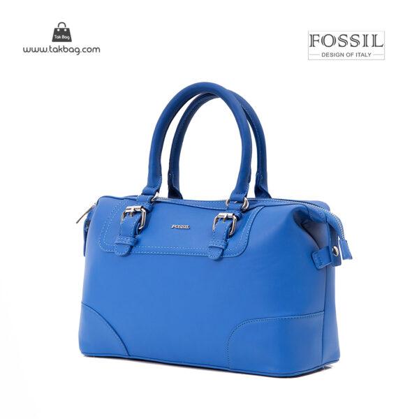 کیف دستی زنانه کد TB-6137 برند فسیل رنگ آبی از جلو ( fossil tb-6137 )
