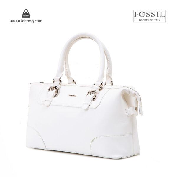 کیف دستی زنانه کد TB-6137 برند فسیل رنگ سفید از جلو ( fossil tb-6137 )