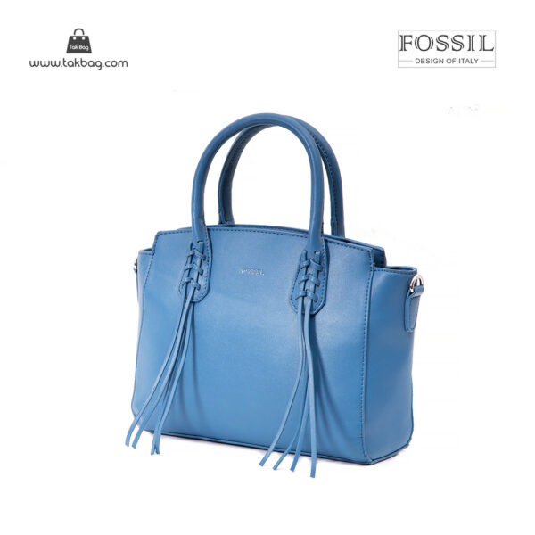 کیف دستی زنانه کد TB-6138 برند فسیل رنگ آبی از جلو ( fossil tb-6138 )