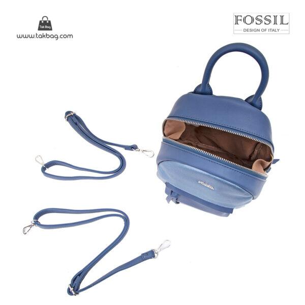 کوله پشتی زنانه کد TB-6145 برند فسیل رنگ آبی از بالا ( fossil tb-6145 )