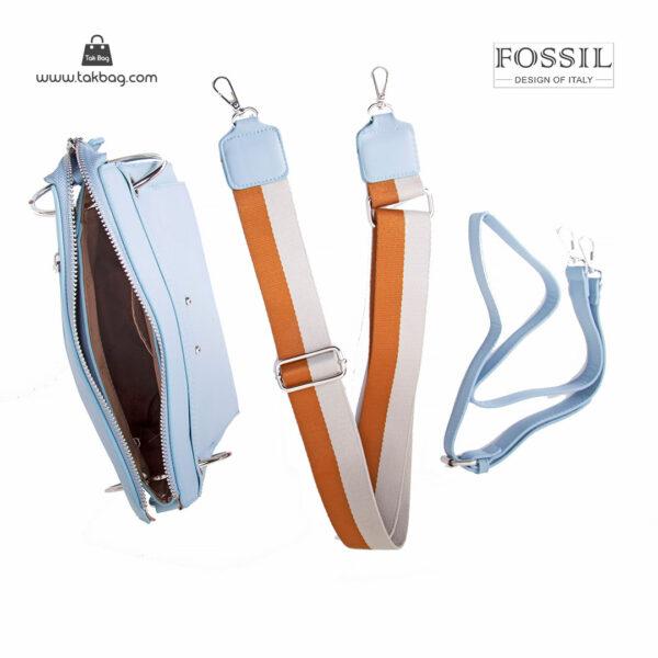 کیف رودوشی زنانه کد TB-6147 برند فسیل رنگ آبی از بالا ( fossil tb-6147 )
