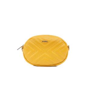 کیف رودوشی کمری زنانه کد TB-6150 برند فسیل رنگ زرد از جلو ( fossil tb-6150 )