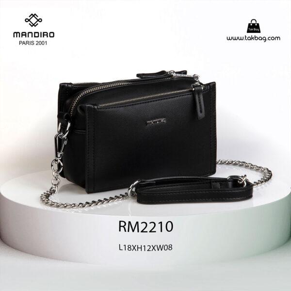 کیف رودوشی زنانه کد RM-2210 برند ماندیرو رنگ مشکی از جلو ( mandiro RM-2210 )