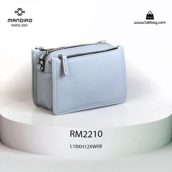 کیف رودوشی زنانه کد RM-2210 برند ماندیرو رنگ آبی از عقب ( mandiro RM-2210 )