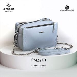 کیف رودوشی زنانه کد RM-2210 برند ماندیرو رنگ آبی از جلو ( mandiro RM-2210 )
