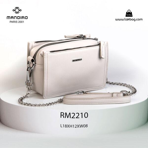کیف رودوشی زنانه کد RM-2210 برند ماندیرو رنگ طوسی از جلو ( mandiro RM-2210 )