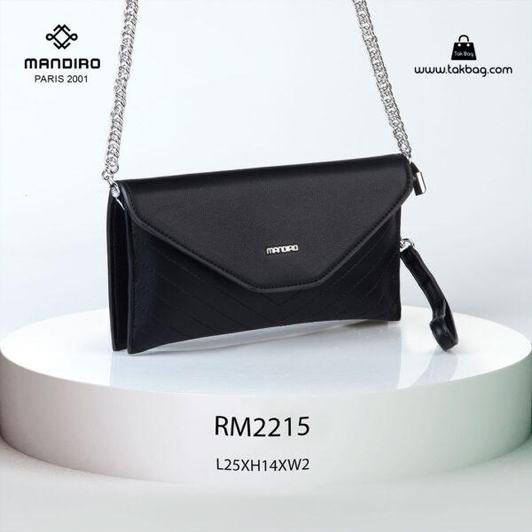 کیف رودوشی زنانه کد RM-2215 برند ماندیرو رنگ مشکی از جلو ( mandiro RM-2215 )
