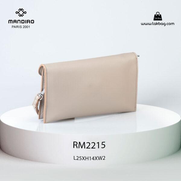 کیف رودوشی زنانه کد RM-2215 برند ماندیرو رنگ کافی از عقب ( mandiro RM-2215 )