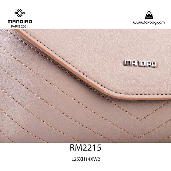کیف رودوشی زنانه کد RM-2215 برند ماندیرو رنگ کافی از نزدیک ( mandiro RM-2215 )