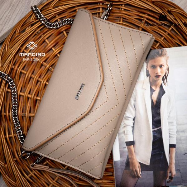 کیف رودوشی زنانه کد RM-2215 برند ماندیرو رنگ کافی فانتزی ( mandiro RM-2215 )