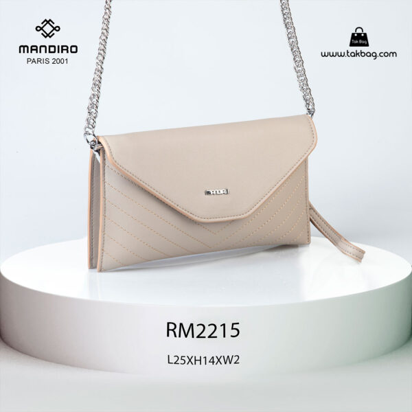 کیف رودوشی زنانه کد RM-2215 برند ماندیرو رنگ کافی از جلو ( mandiro RM-2215 )