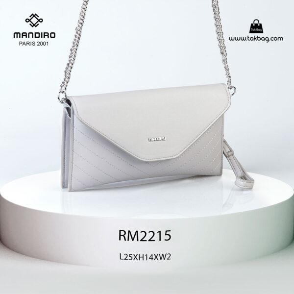 کیف رودوشی زنانه کد RM-2215 برند ماندیرو رنگ طوسی از جلو ( mandiro RM-2215 )