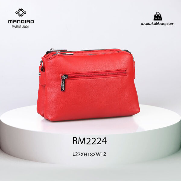 کیف رودوشی زنانه کد RM-2224 برند ماندیرو رنگ قرمز از عقب ( mandiro RM-2224 )