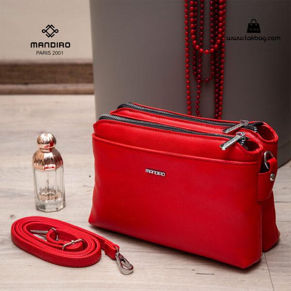 کیف رودوشی زنانه کد RM-2224 برند ماندیرو رنگ قرمز از نزدیک ( mandiro RM-2224 )
