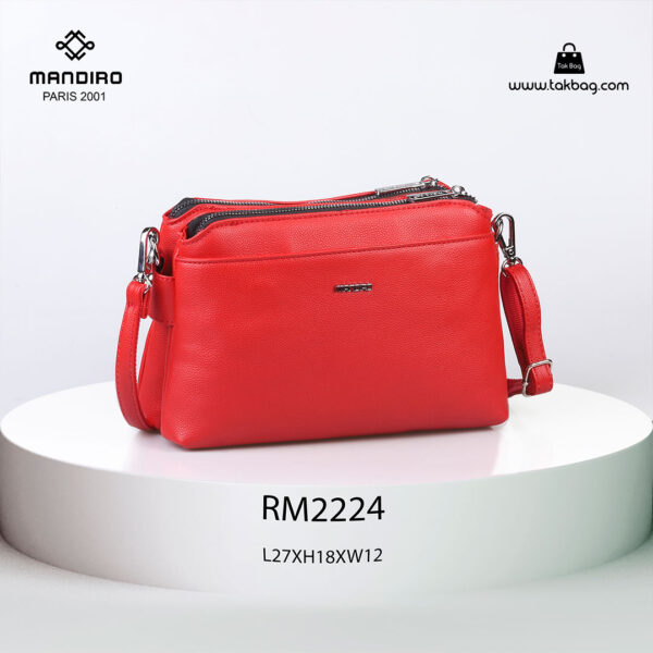 کیف رودوشی زنانه کد RM-2224 برند ماندیرو رنگ قرمز از جلو ( mandiro RM-2224 )