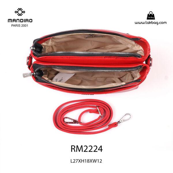 کیف رودوشی زنانه کد RM-2224 برند ماندیرو رنگ قرمز از بالا ( mandiro RM-2224 )