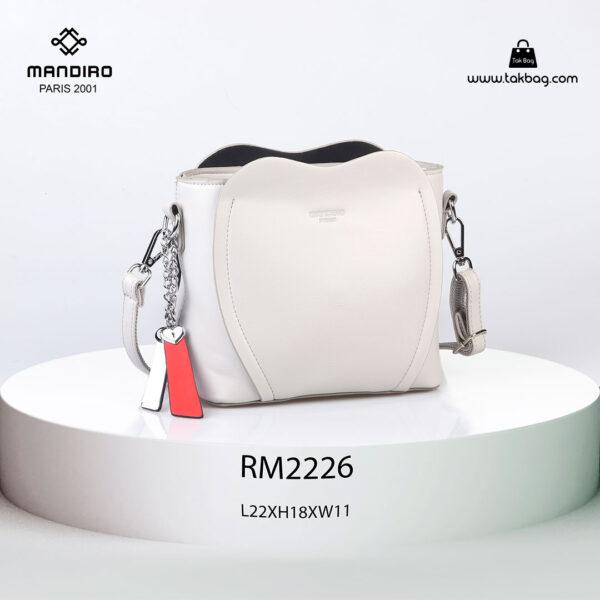 کیف رودوشی زنانه کد RM-2226 برند ماندیرو رنگ سفید از جلو ( mandiro RM-2226 )