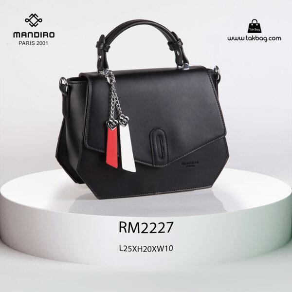 کیف رودوشی زنانه کد RM-2227 برند ماندیرو رنگ مشکی از جلو ( mandiro RM-2227 )