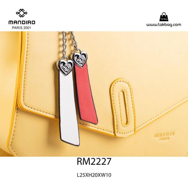 کیف رودوشی زنانه کد RM-2227 برند ماندیرو رنگ زرد از نزدیک ( mandiro RM-2227 )