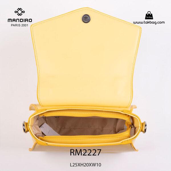 کیف رودوشی زنانه کد RM-2227 برند ماندیرو رنگ زرد از بالا ( mandiro RM-2227 )
