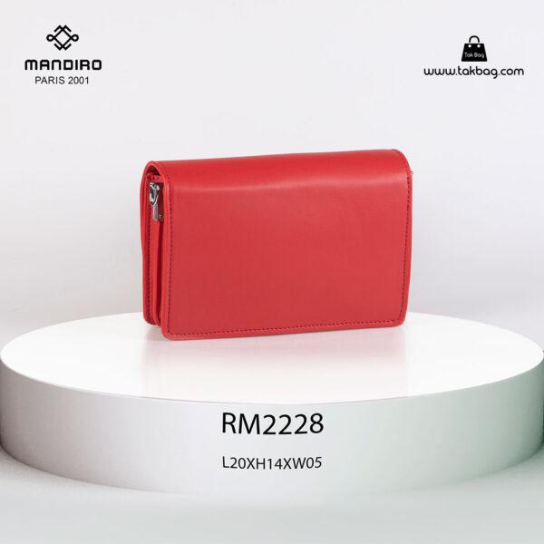 کیف رودوشی زنانه کد RM-2228 برند ماندیرو رنگ قرمز از عقب ( mandiro RM-2228 )