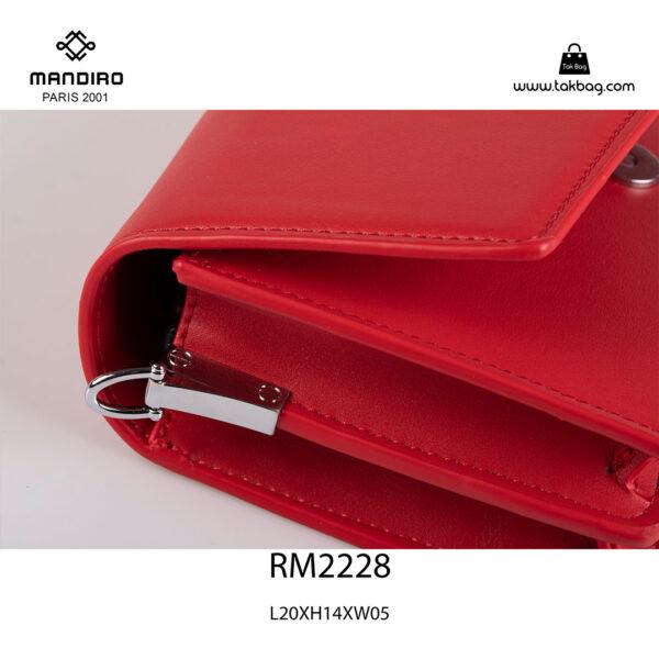 کیف رودوشی زنانه کد RM-2228 برند ماندیرو رنگ قرمز از نزدیک ( mandiro RM-2228 )