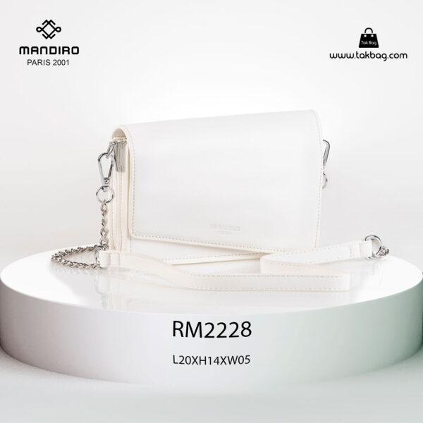 کیف رودوشی زنانه کد RM-2228 برند ماندیرو رنگ سفید از جلو ( mandiro RM-2228 )
