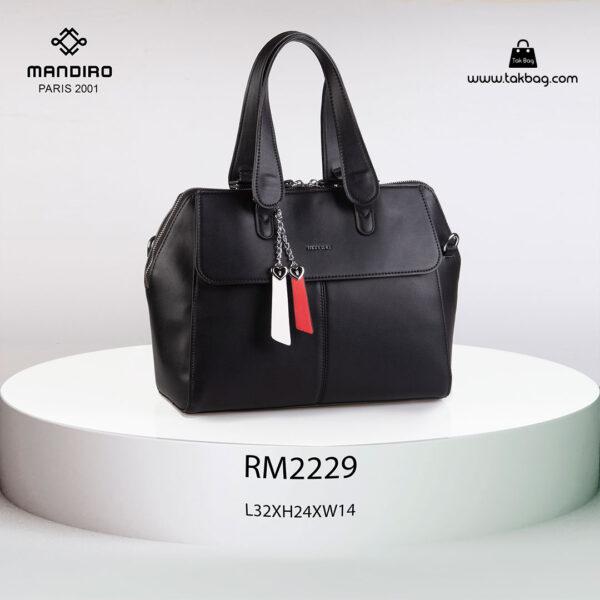 کیف دستی زنانه کد RM-2229 برند ماندیرو رنگ مشکی از جلو ( mandiro RM-2229 )