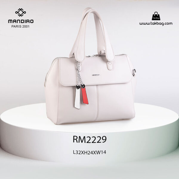 کیف دستی زنانه کد RM-2229 برند ماندیرو رنگ طوسی از جلو ( mandiro RM-2229 )