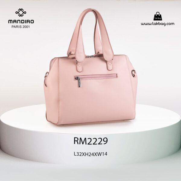 کیف دستی زنانه کد RM-2229 برند ماندیرو رنگ صورتی از عقب( mandiro RM-2229 )