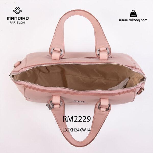 کیف دستی زنانه کد RM-2229 برند ماندیرو رنگ صورتی از بالا ( mandiro RM-2229 )