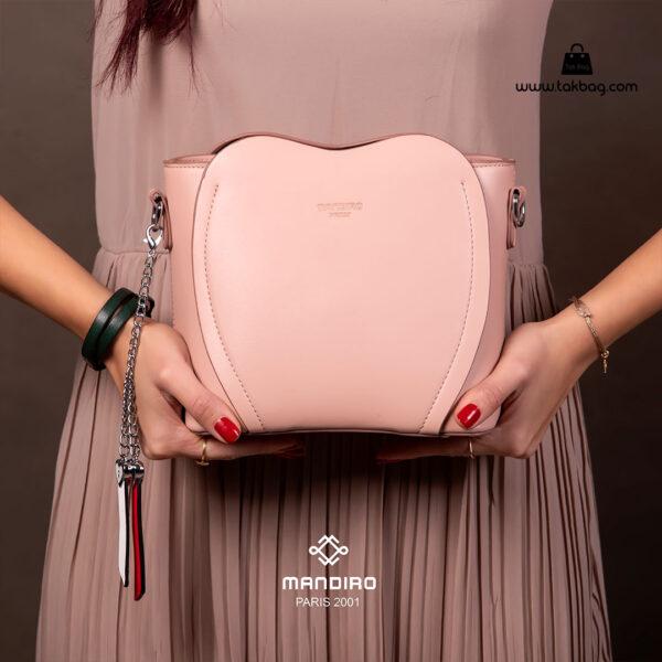 کیف رودوشی زنانه کد RM-2226 برند ماندیرو رنگ صورتی با مدل ( mandiro RM-2226 )