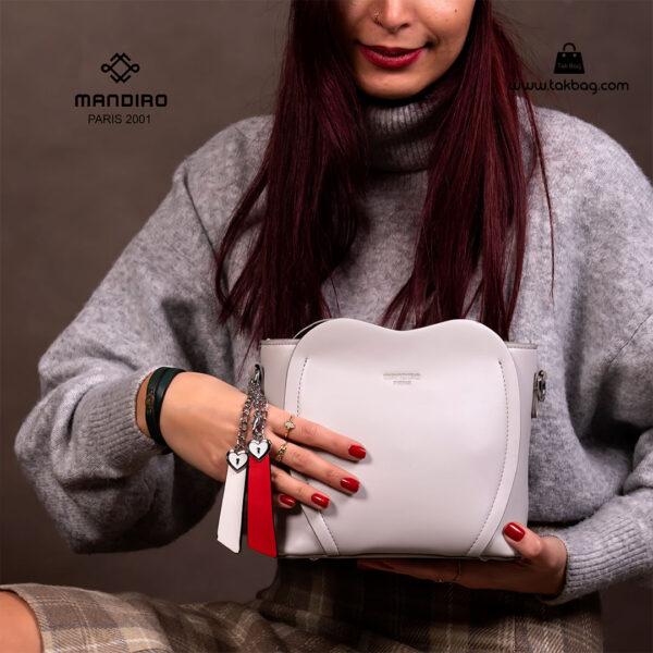 کیف رودوشی زنانه کد RM-2226 برند ماندیرو رنگ سفید با مدل ( mandiro RM-2226 )