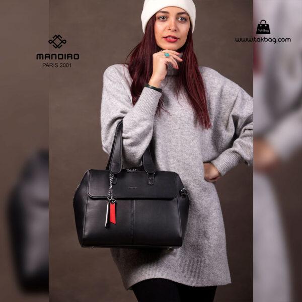 کیف دستی زنانه کد RM-2229 برند ماندیرو رنگ مشکی با مدل ( mandiro RM-2229 )