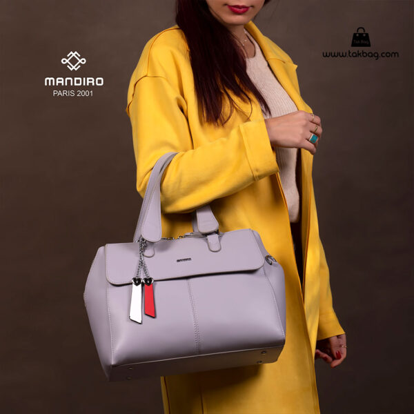 کیف دستی زنانه کد RM-2229 برند ماندیرو رنگ طوسی تیره با مدل ( mandiro RM-2229 )
