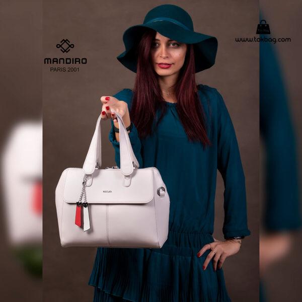 کیف دستی زنانه کد RM-2229 برند ماندیرو رنگ طوسی با مدل ( mandiro RM-2229 )