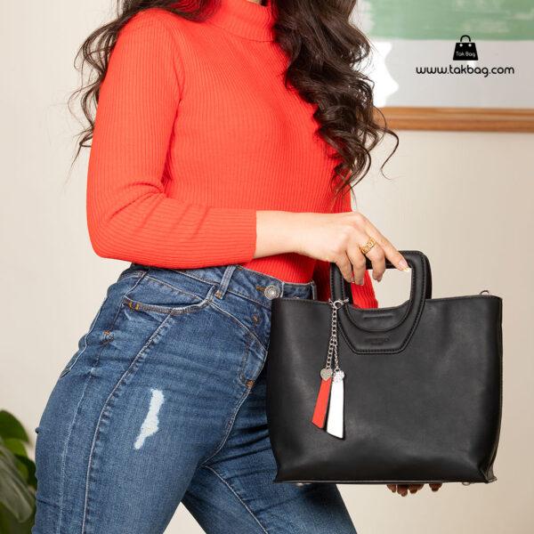 کیف دستی زنانه کد RM-2231 برند ماندیرو رنگ مشکی با مدل ( mandiro RM-2231 )
