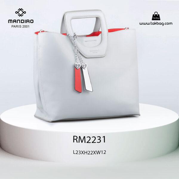 کیف دستی زنانه کد RM-2231 برند ماندیرو رنگ سبز از جلو ( mandiro RM-2231 )