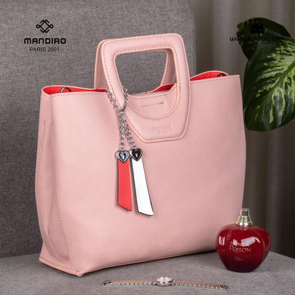 کیف دستی زنانه کد RM-2231 برند ماندیرو رنگ صورتی فانتزی ( mandiro RM-2231 )