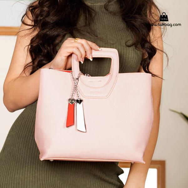 کیف دستی زنانه کد RM-2231 برند ماندیرو رنگ صورتی با مدل ( mandiro RM-2231 )