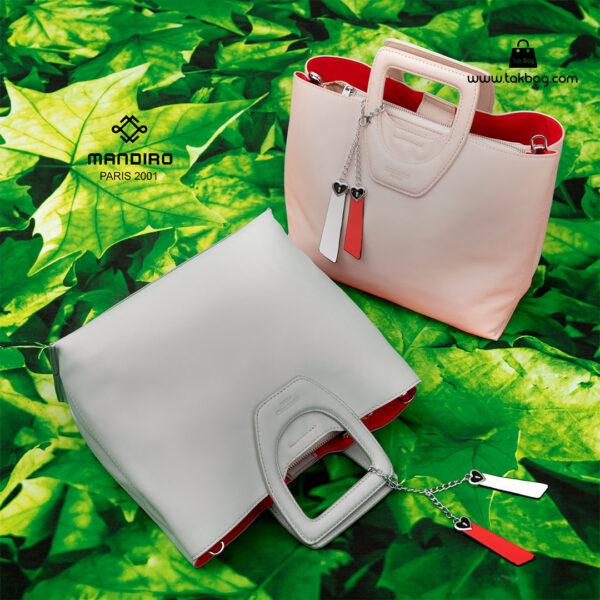 کیف دستی زنانه کد RM-2231 برند ماندیرو رنگ صورتی سبز فانتزی ( mandiro RM-2231 )