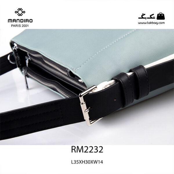 کیف دستی زنانه کد RM-2232 برند ماندیرو رنگ آبی از نزدیک ( mandiro RM-2232 )