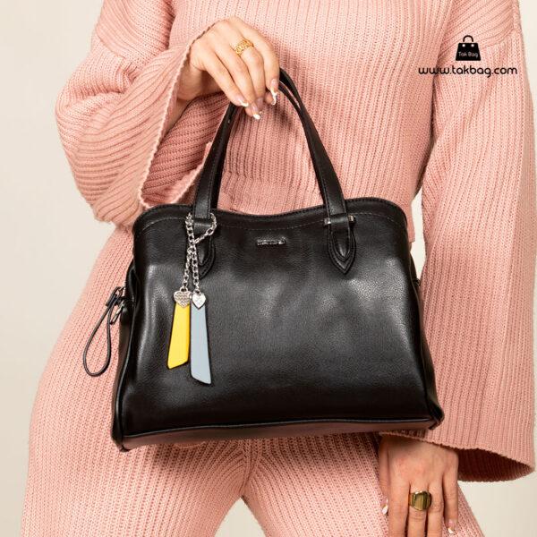کیف دستی زنانه کد RM-2233 برند ماندیرو رنگ مشکی با مدل ( mandiro RM-2233 )