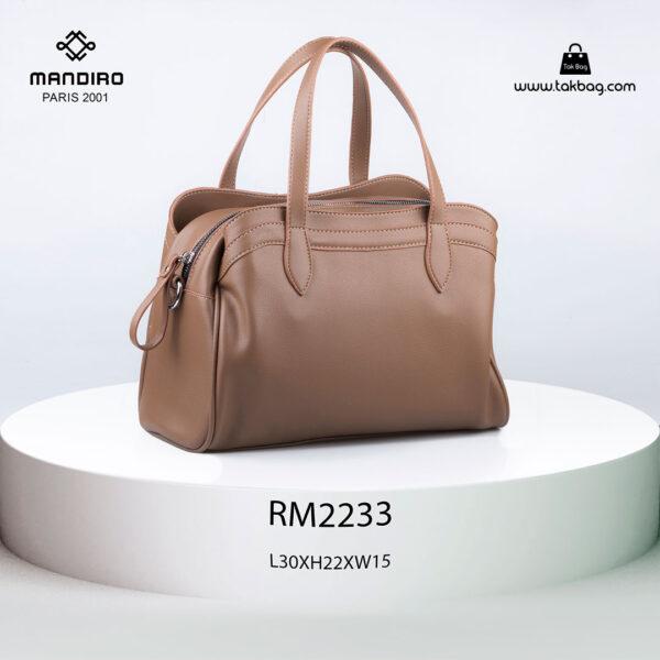 کیف دستی زنانه کد RM-2233 برند ماندیرو رنگ کافی از پشت ( mandiro RM-2233 )